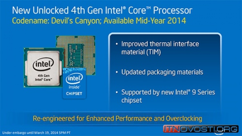 Intel представила процессоры Devil's Canyon